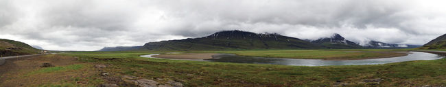 magnificent panorama on the way to egilstadir in eastern iceland. Beauty In Nature Cloud Cloudscape Day Landscape Mountain Mountain Range Mountains Nature No People Outdoors Panorama Panoramic Panoramic Landscape Panoramic Photography Panoramic View River Riverbed Road Rocks Scenics Sky Snow Water Weather