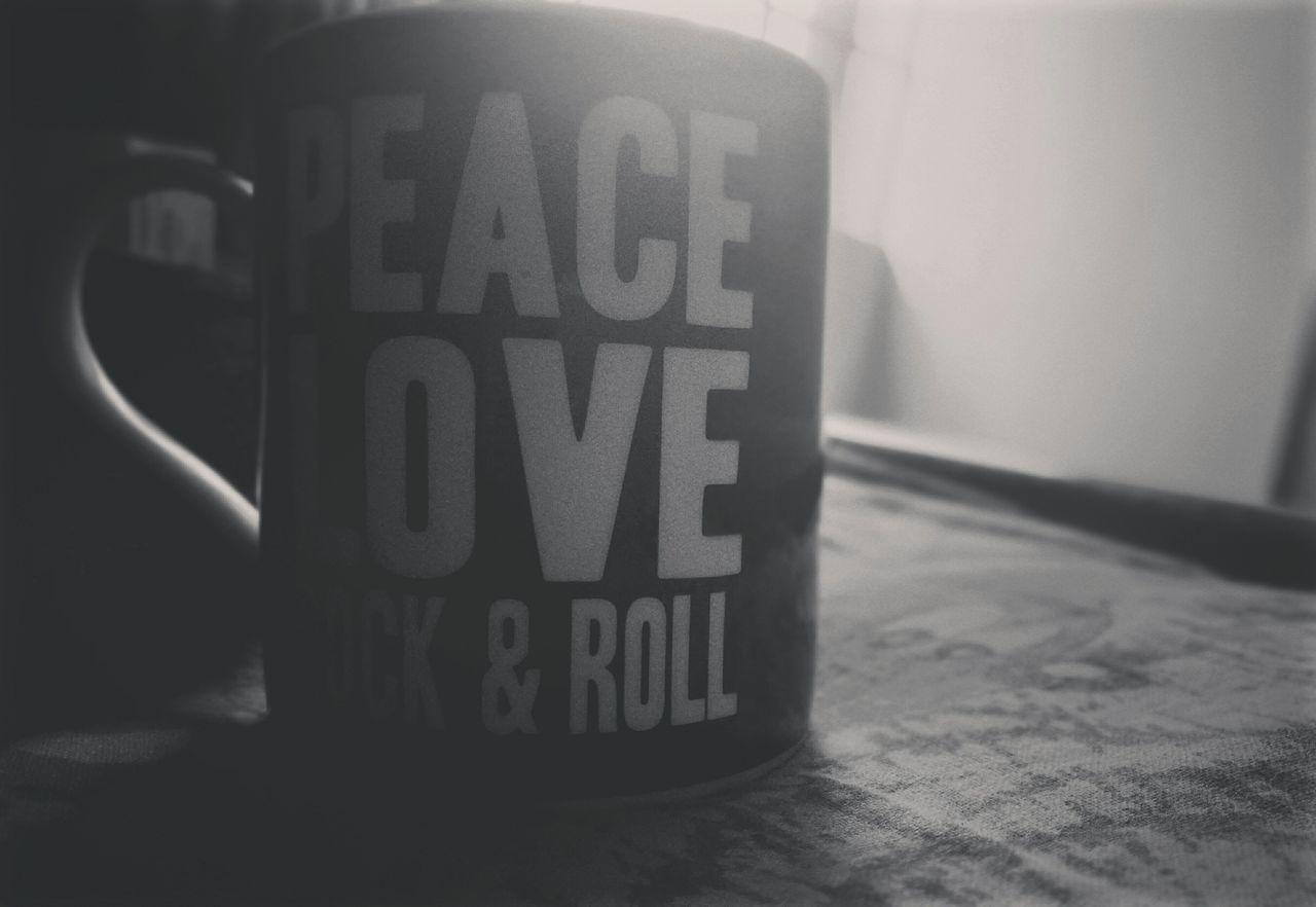 Peace ✌ Love ♥ Rocknroll Mondaymorning Blackandwhite Black & White