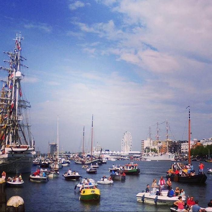Sail2015 Sail Sailamsterdam Tallships Tallship Sky Skylover Clouds View Dutchview Amsterdam Nederland Netherlands Thenetherlands Igholland Ignl Ig_nlpics Nofilter Beautiful Holland_photolovers Loves_netherlands Super_holland Allwhatsbeautiful