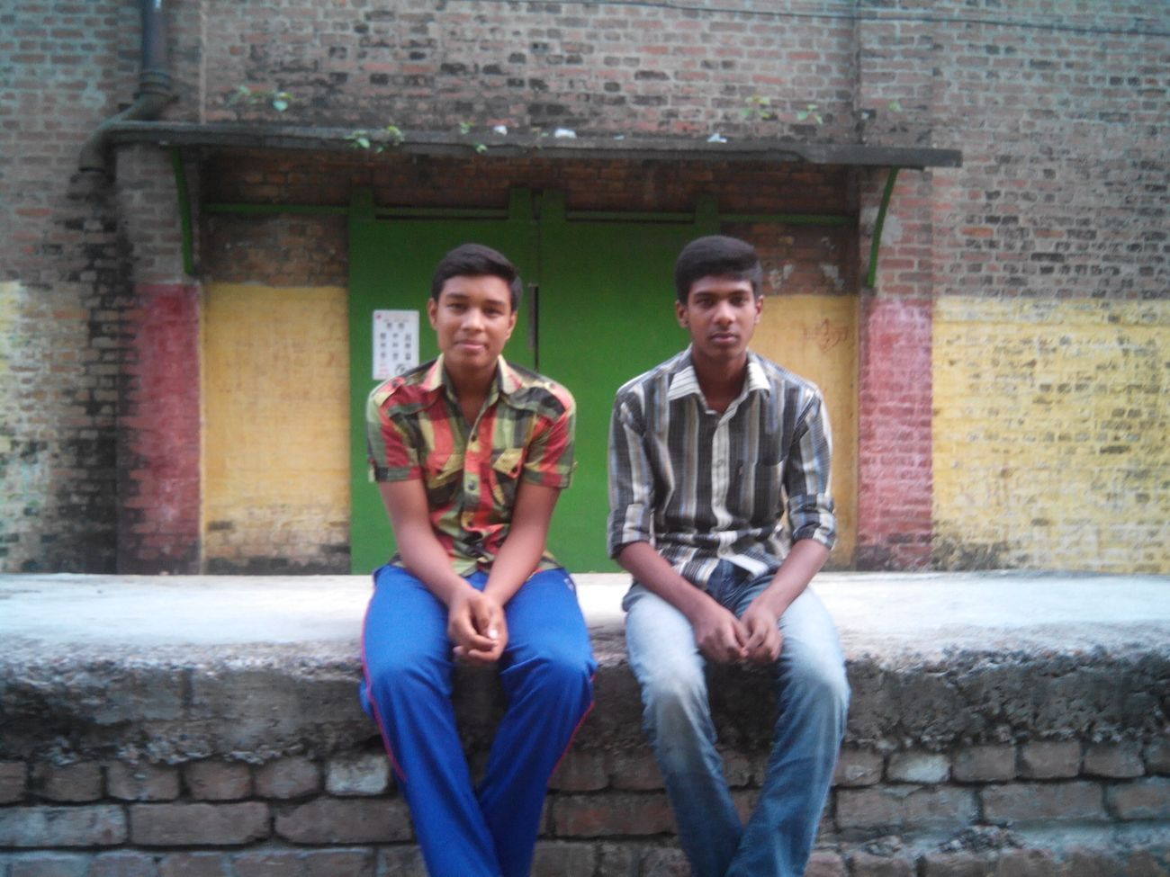 me with my friend Ashik On The Road