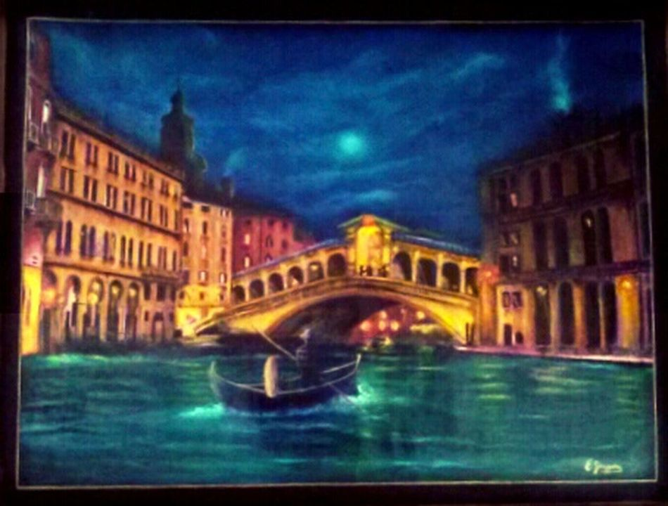 Romantic Venice, from the Venice Collection, original art by E. Giupponi Art Starbuck At Eden Roc Filippa K Asks: What Inspires You?