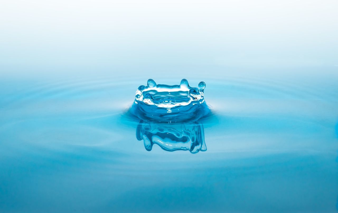 Beautiful stock photos of water, Crown, Day, Drop, High Angle View