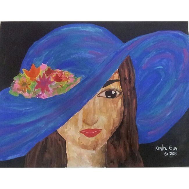 Lady in Blue Hat Pinoy Pinoyart Pinoyartistry Pinoyartist filipinoart filipino filipinoartist philippineart painting art