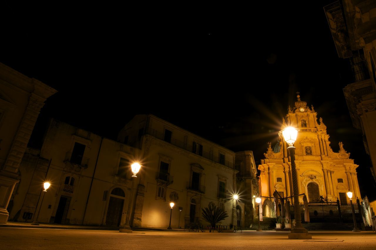 Illuminated Street Light At Night