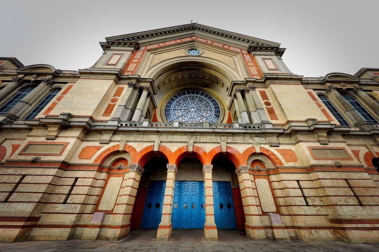 Alexandra Palace Restoration Architecture Building Exterior Low Angle View Built Structure Window No People Arch Multi Colored Façade Day Outdoors Sky Place Of Worship