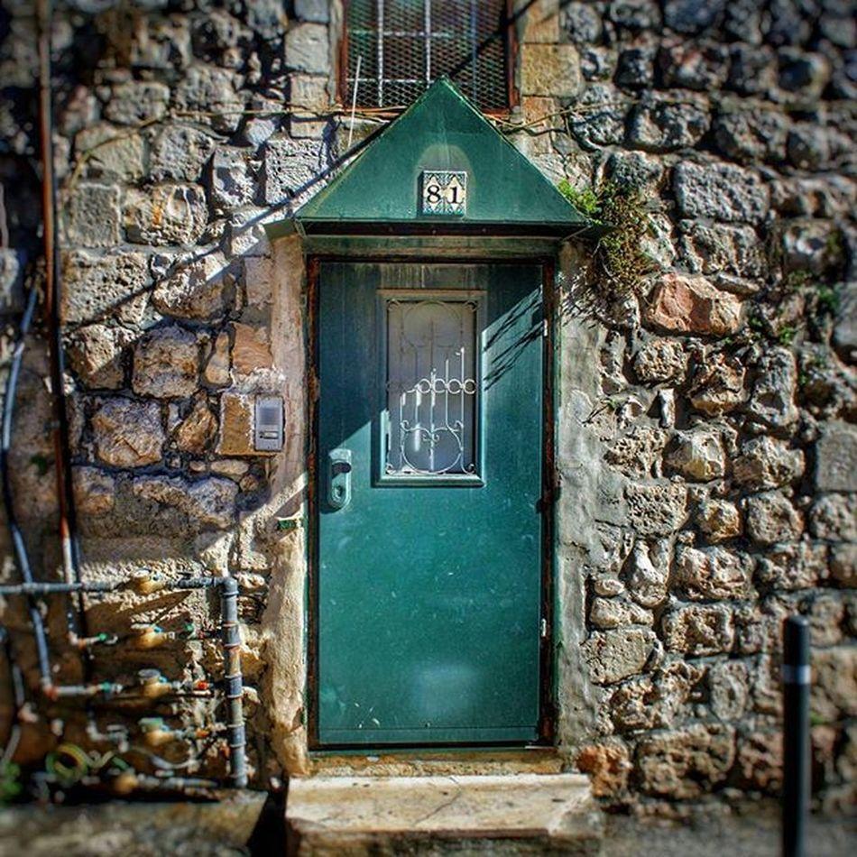 Green Door 81 near the Jewish Quarter Jewishquarter Israel Jerusalem