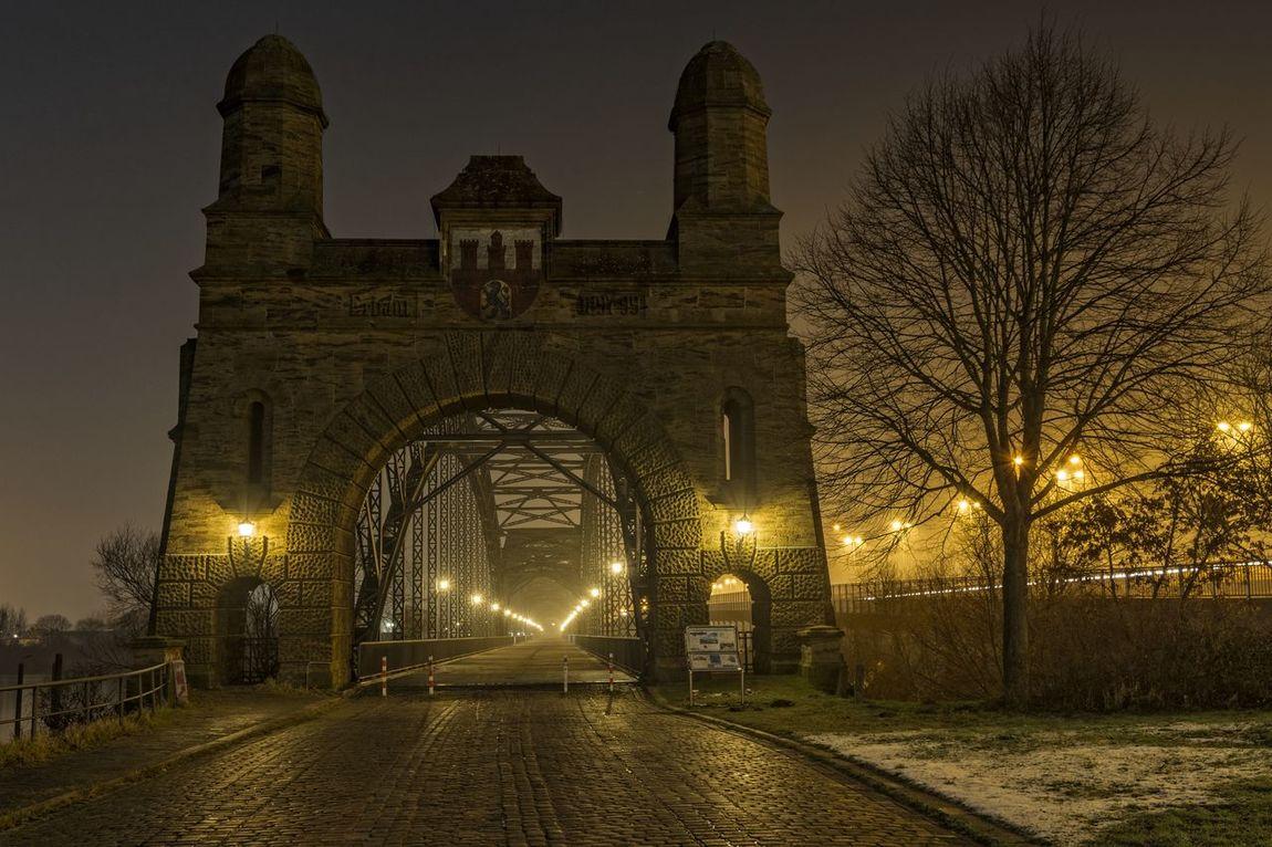 RichtungNorden Arch Architecture Bridge Built Structure Famous Place Historic History Nightphotography Old Portal Süderelbe