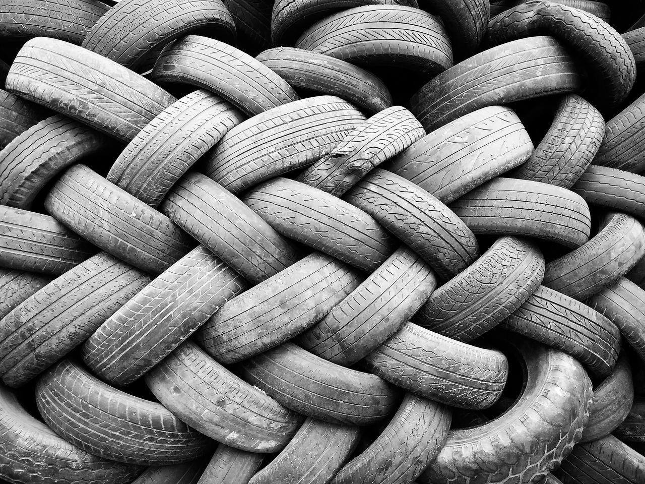 Full Frame Of Used Tires