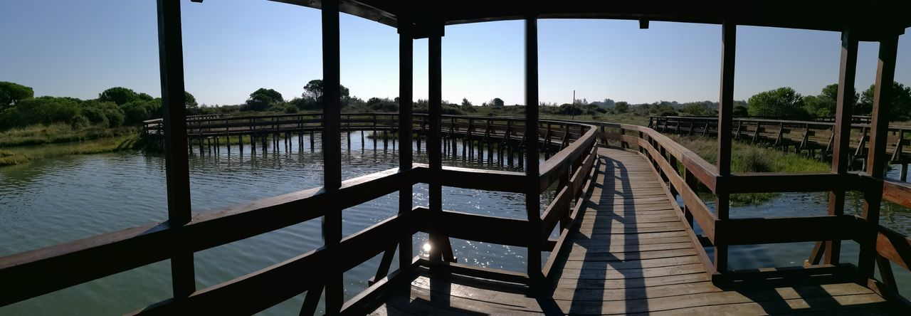 Rosolinabeach Rosolina_mare Panoramic Photography Bridge - Man Made Structure Tranquil Scene Bridge Water Built Structure Architecture Clear Sky
