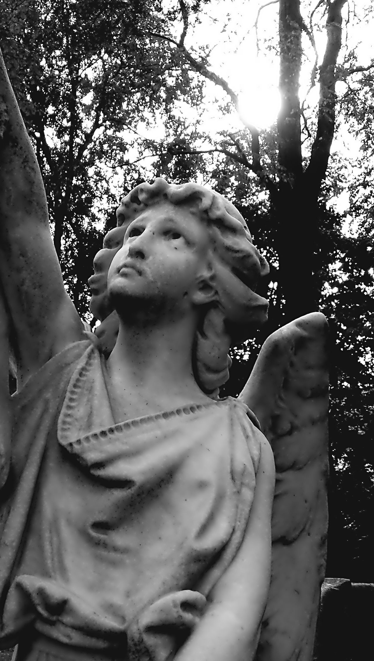 Bnw_friday_eyeemchallenge Expressive Sculpture Angels Black And White