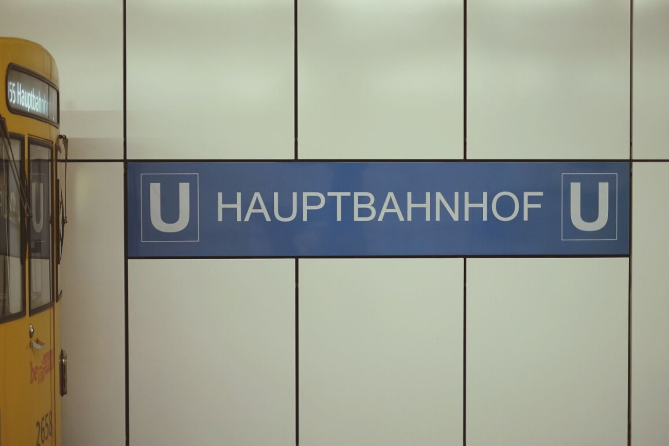 Berlin Subway Station Signage U55