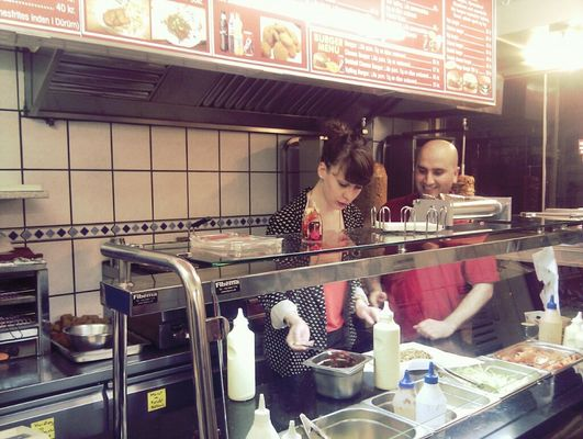 Helene's new job! at the trusted shawarma place by AdrianY Y