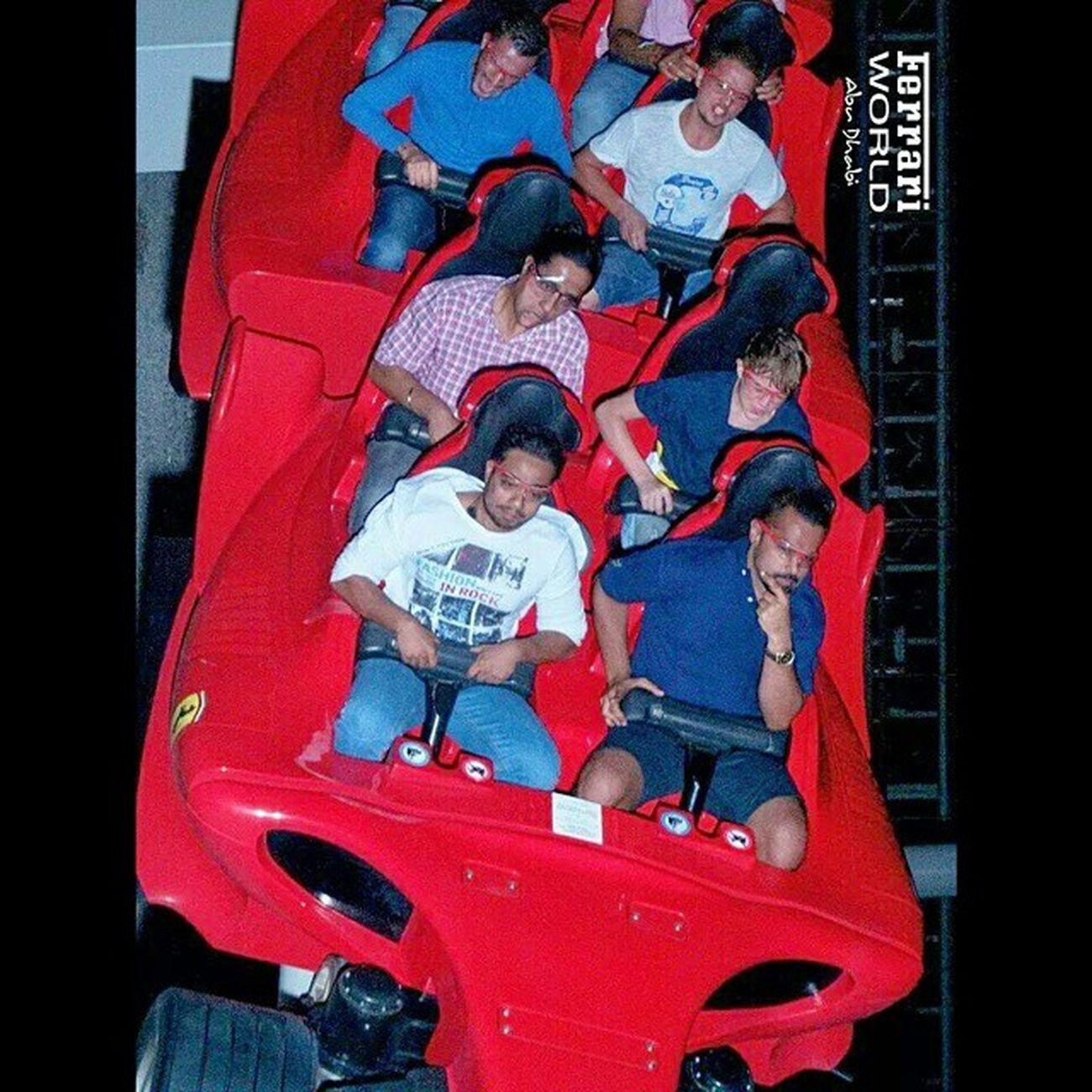 Ferrariworld Worldsfastestrollercoaster Yas Abudhabi uae poser actcool 240km 4.6G guyinthemiddle scared epic rides
