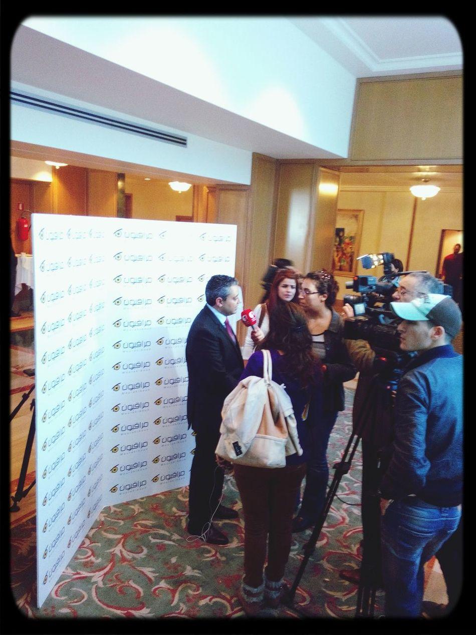 Conference de presse Mourakiboun Vote4Tunisia Preztn