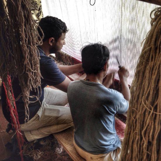 Weaving Handcraft Making Carpets Men At Work