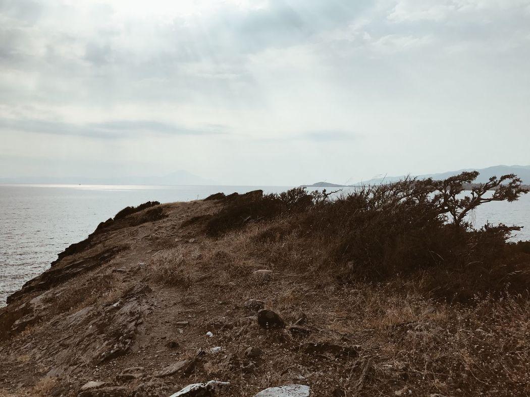 Beautiful seascape in Ormos Panagias, Greece GREECE ♥♥ Mediterranean  Nature Nature Photography Summertime Travel Wildlife & Nature Beauty In Nature Blue Cliff Hikingadventures Sea Seascape Water