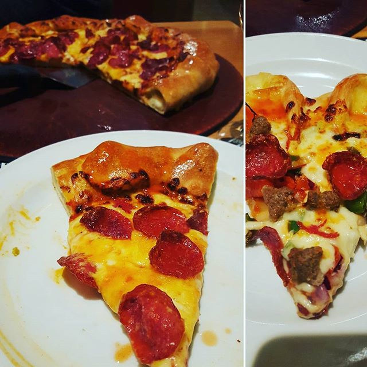 Last refeed meal for the day! Pizza Hut delights with friends 🍕 ❤ Pizza Cheesy Pizzahut Cheesycrust Pepperoni Friends Diningout Foodgasm Pizzapizza Foodporn Foodblogger Pizzalover Blogger_LU Carbloading Refuel Fyet Munchdown Munchies Cheddar Mozarella Love Delight  Spicy Hotsauce Tabasco tabascosauce @tabasco @pizzahut