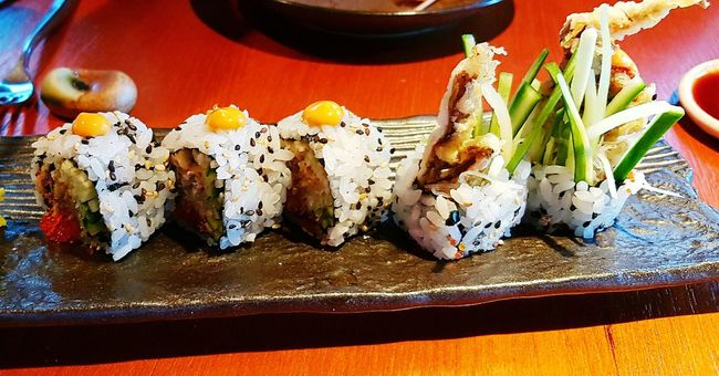 Food Freshness Appetizer Temptation Japanese Food Cooked Food Styling Spicy Food Maki Rolls Soft Shell Crab Seafoods SEAF