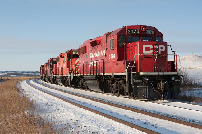 CP Rail locomotives, north of Regina Canada Canadian Pacific Rail Cp CP Rail Diesel Locomotive Outdoors Prairie Prairie Scenes Rail Rail Transportation Railroad Railroad Track Railway Red Regina Saskatchewan Snow Train Transportation Winter