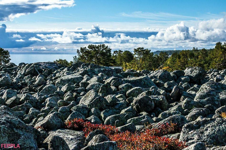 Aoutmn Butiful Sea Nofilter Nature Sky And Clouds Folowme Fotography Coulors Seascape Hudiksvall Stones Folowforfollow Sunlight