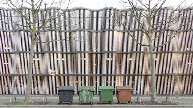 Architecture Architektur Bamboo Bambus Building Construction Garage Gebäude Konstruktion Leipzig Parken Parkgarage Parking Parking Garage Structure Struktur Symmetry Urban Geometry