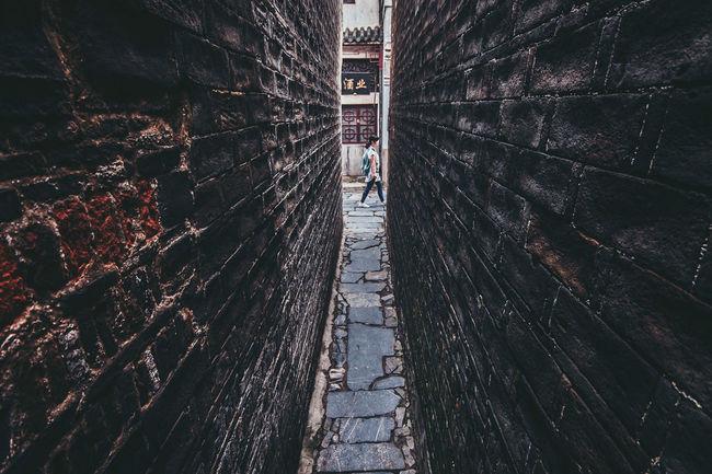 One-man Lane, Sanhe, Anhui, China Ancient Anhui Architecture Brick Wall Built Structure China Chinese Classic Lane Narrow Sanhe Tour Town Tradtional Travel Village