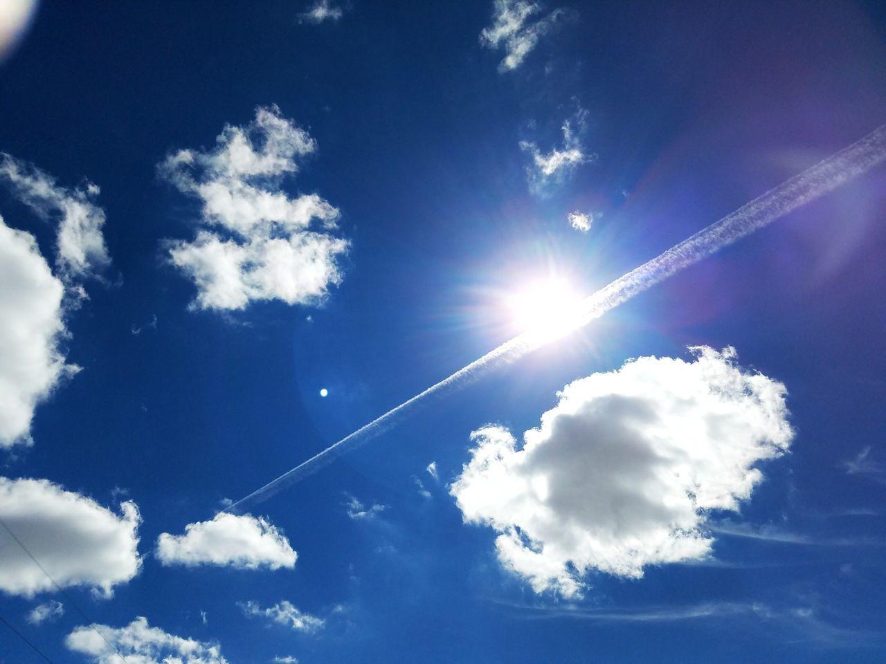 Blue Sky Blue Skyblue Sky Sky_collection Sky And Clouds Sky_collection Skyscape Cloud Clouds And Sky Clouds Collection Jet Trails Sun Sunny Bright Bright Sky Clouds In The Sky Sunny Skies White Clouds And Blue Sky Clouds