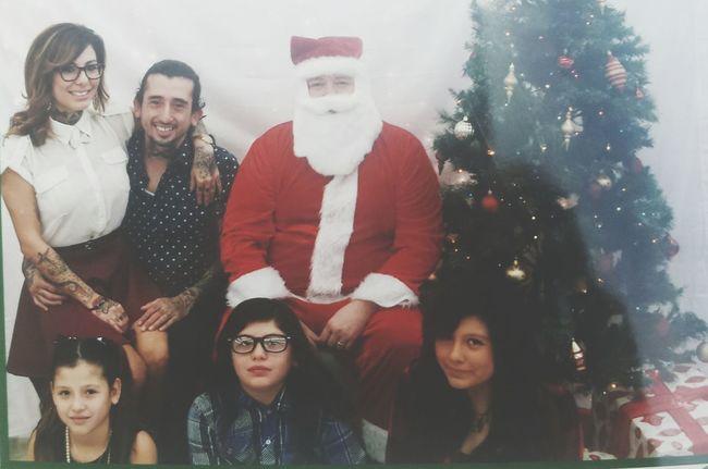 Christmas with the Cruz SantaClausProblems Santaclausiscomingtotown Santaclausisstillcreepy Family Portrait Family Time Familyday Teamcruz