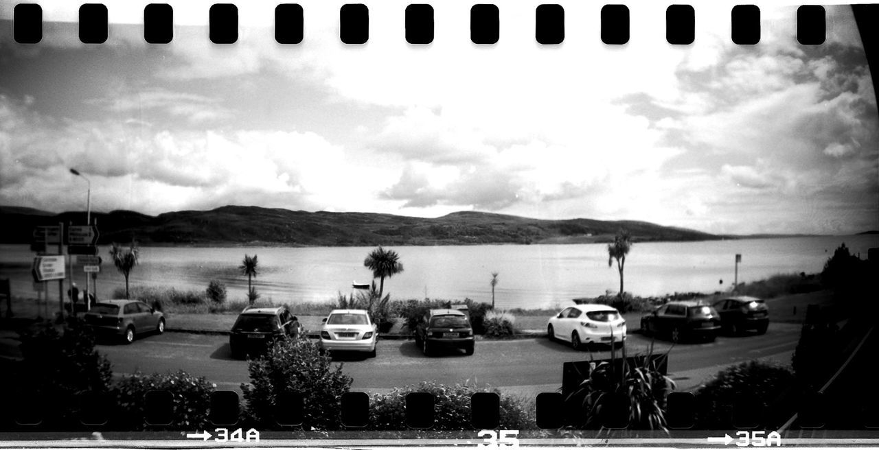 35mm 35mm Film Black And White Cloud Cloud - Sky Day Film Photography Lomo Lomography Mode Of Transport Nature No People Outdoors Scenics Sky Sprocket Rocket Panorama Tranquility