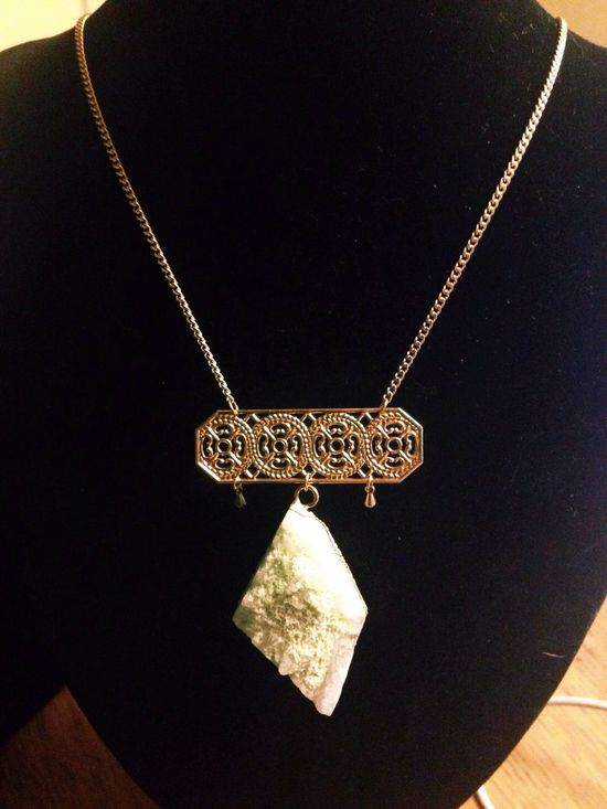Brass Crystal Qzlab Jewelry Designer Necklace One Of A Kind