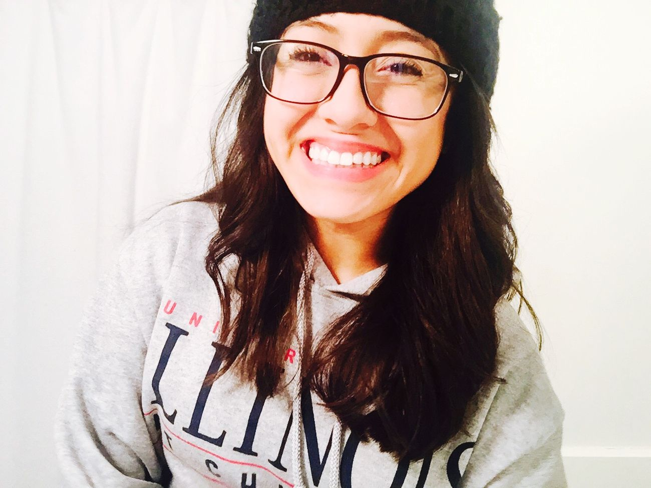 Always keeping a smile on my face! My Nerd Glasses Uic Ilovebigsweaters Enjoying Life