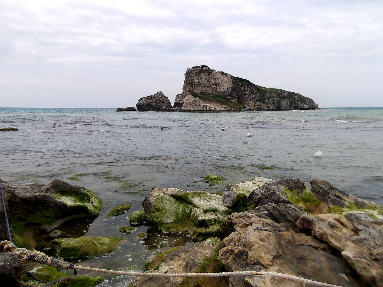 Agrigento Beach Beauty In Nature Cielo Nuvoloso Horizon Over Water Licata Mare Muschio Nature No People Outdoors Rocca Di San Nicola Rocce Rock - Object Sea Sicily Sky Tranquil Scene Tranquility Water