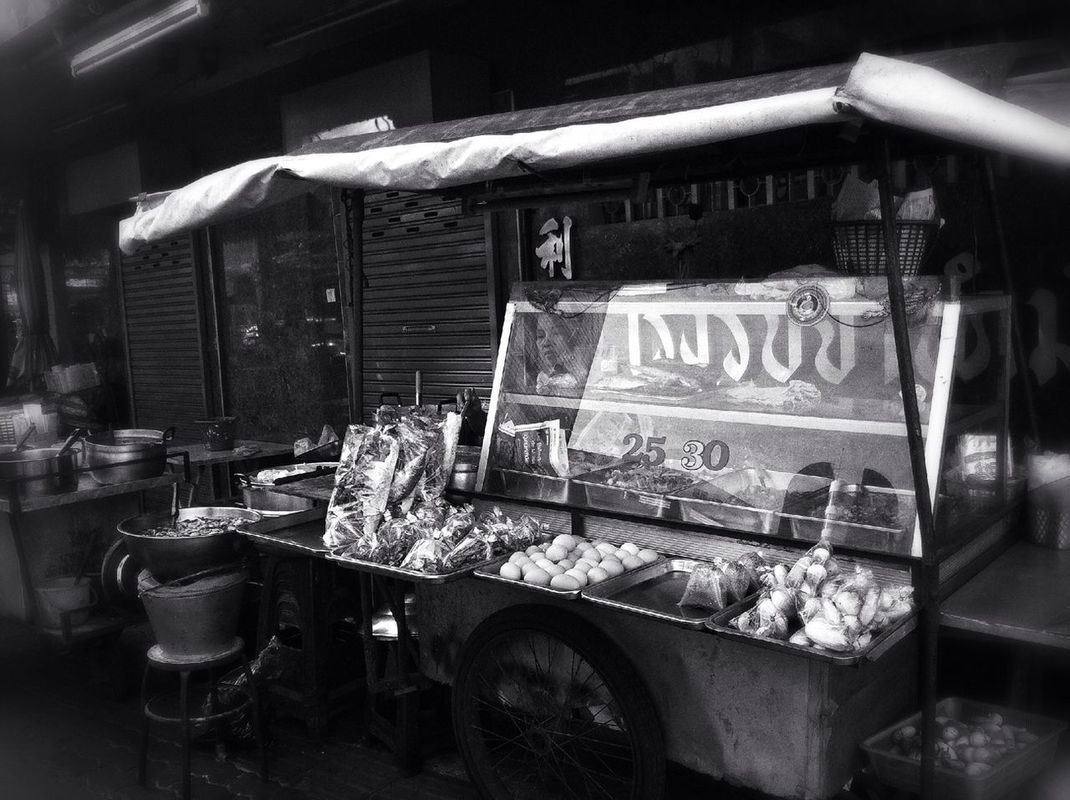 streetphotography food blackandwhite Bangkok Thailand by IwanYulianto