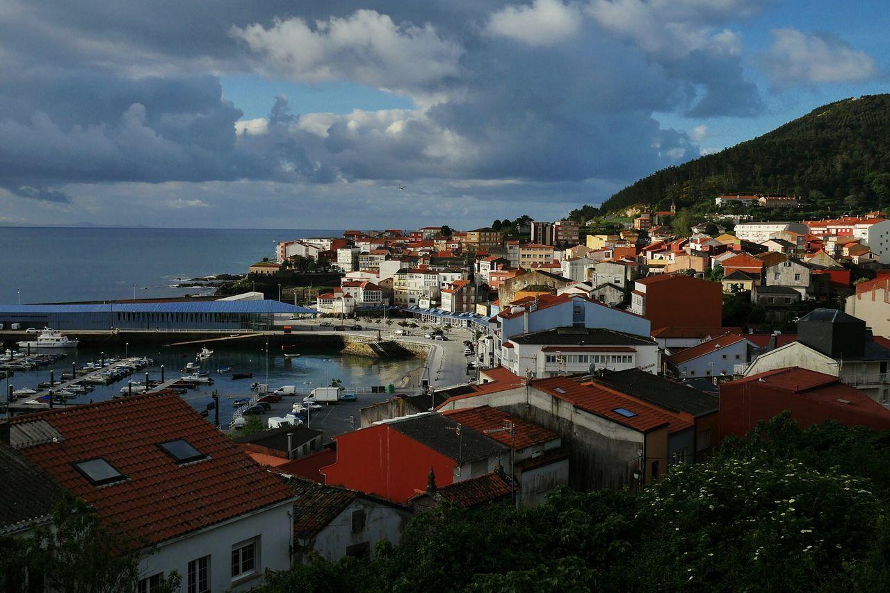 Finisterre Sky Sea Town SPAIN Sun