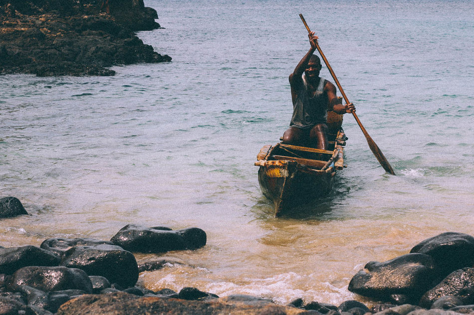 Fisherman Africa African Beach Beauty In Nature Boat Day Fisherman Fishing Nature Outdoors People Sea Seaside Water
