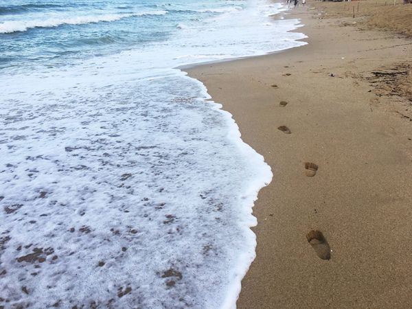 Beach Shore Sand Sea Wave Water Nature Beauty In Nature No People Day Outdoors