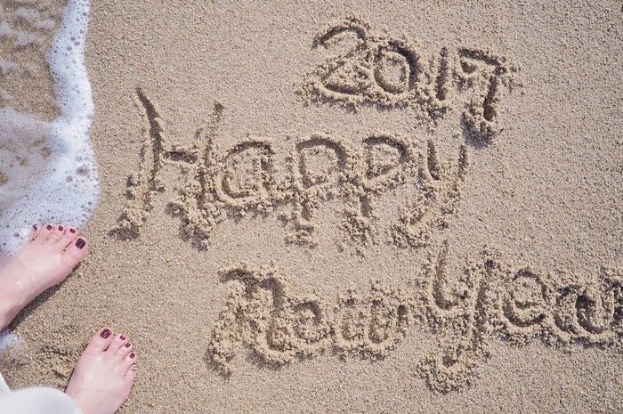 a Happy New Year 2017 Sand Beach Sunlight Human Body Part EyeEm Best Shots EyeEm Gallery EyeEmBestPics Eye4photography  Selfie ThatsMe The Human Condition …海外で年越しpicとみせかけて、じつは思いっきり国内〜♪