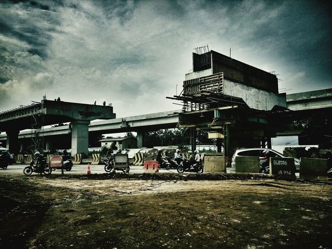 Construction Work Transportation, Flyover Tollroad Concrete Bridge Transport Photography Transportation Vehicle The Portraitist - 2016 EyeEm Awards