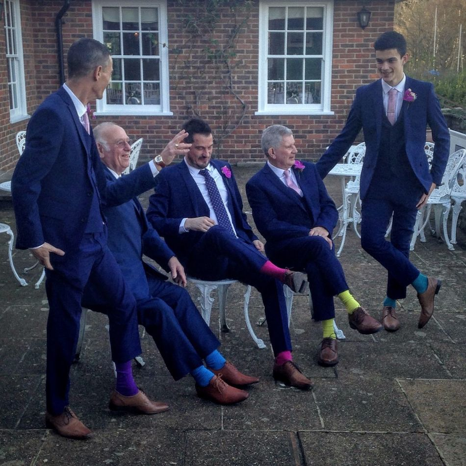 Me (in the middle) and the groomsmen 💫💍💫 Wedding Wedding Photography Wedding Day Groom Groomsmen Socks Master Builders Hotel Beaulieu