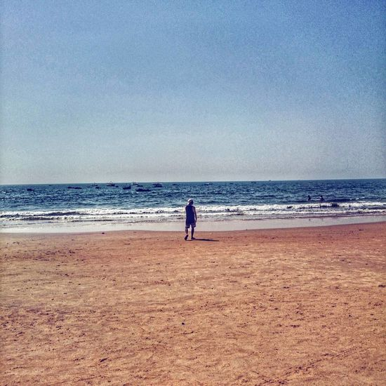 Go Goa! Beach Sea Sand Full Length One Person Horizon Over Water Vacations Adults Only Water One Man Only Nature People Sky Only Men Day Adult Beauty In Nature Scenics Outdoors Real People