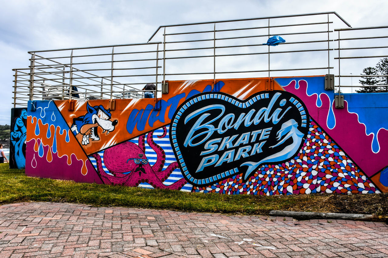 18-140mm Amusement Park Bondi Beach Built Structure Creativity Day Graffiti Multi Colored Neon Nikon Nikon 18-140 Nikon D7200 No People Outdoors Sky Street Art Text