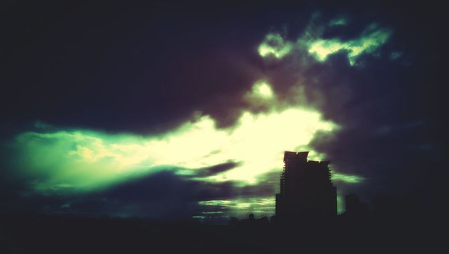 I hope there's an old crazy dude standing atop that building waving around a staff speaking loudly in tongues Phoneography Soullessphotography Momentous Surpriseviews