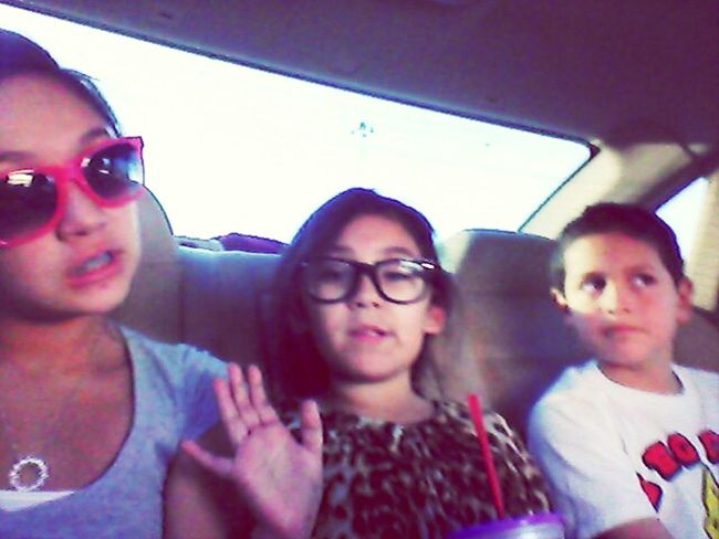 We love beening wrrid in the car :)