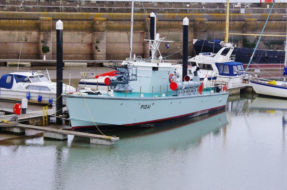 Watchet Docks Marina Somerset Uk Transportation Low Tide Torpedo Boat Mounted Guns