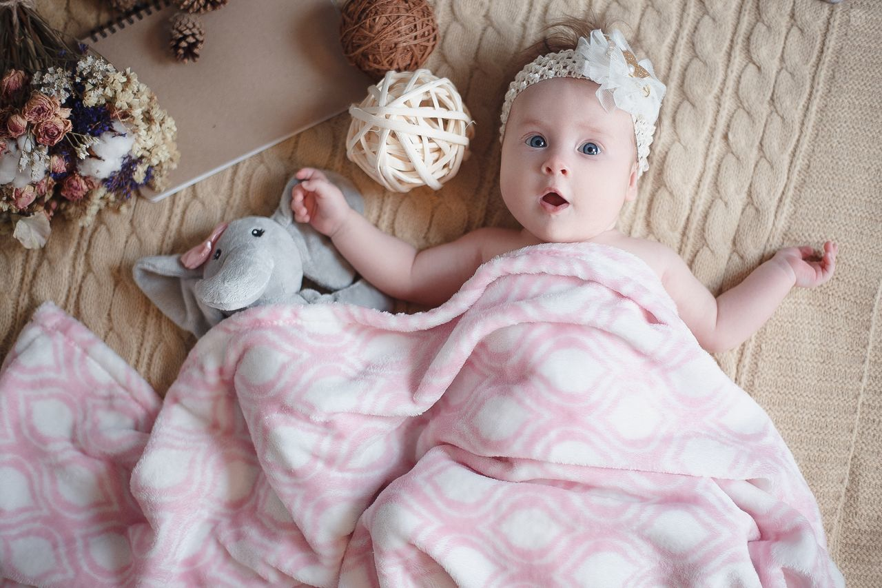 Baby Babies Only Indoors  Babyhood Childhood Stuffed Toy Lying Down Teddy Bear Bed Cute People Bedroom Human Body Part Day Portrait One Person Close-up Adult