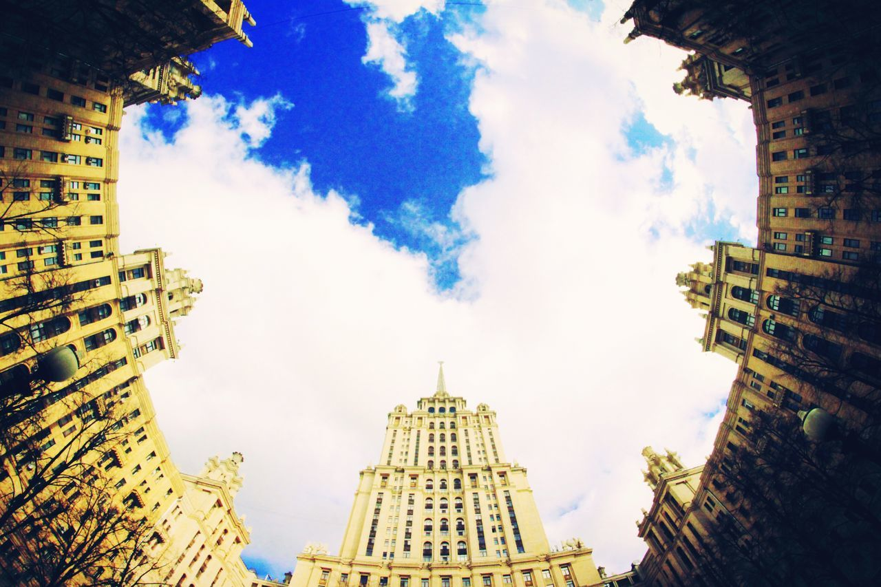 City Sky Travel Architecture Cloud - Sky Travel Destinations Building Exterior No People Outdoors Skyscraper Cityscape Day Representing Sunny☀ Russia россия Moscow, Москва Built Structure Tower Cloudysky Radisson Royal