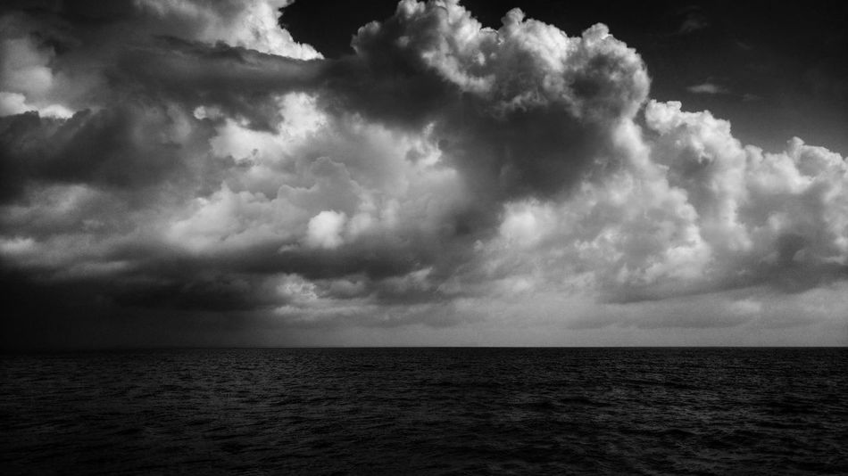 I love bad weathers and I'm going to love them all. Well, just not the one which drowns me - ✍Code Nemesis✍ 😂😂😂😂 But as captain Jack Sparrow said - My spirit will live on. 👻👻👻😂 This was very cool weather big clouds,little rain, refreshing wind.. Totally felt like pirates🤐 🍺 Monochrome Photography Black And White EyeEm Best Shots - Black + White Storm Storm Cloud Stormy Weather Sky And Clouds Sea And Sky Waterfront Nature Beauty In Nature Exceptional Photographs EyeEm Nature Lover Tranquility No People Hanging Out Enjoying Life Ocean Sea Scenics Sailing Outdoors Bad Weather Weather Big Clouds