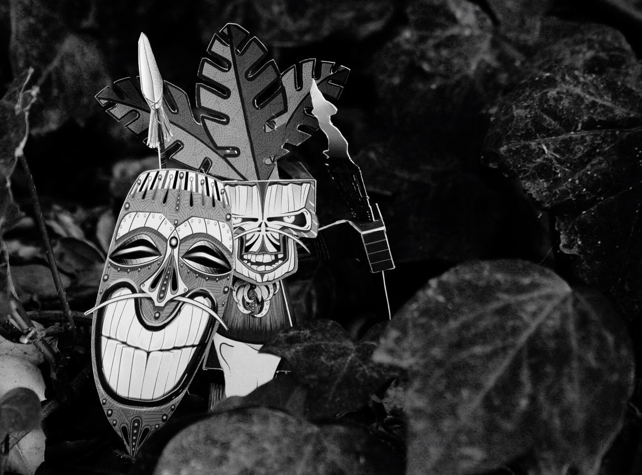 religion, close-up, tradition, outdoors, human face, mask - disguise
