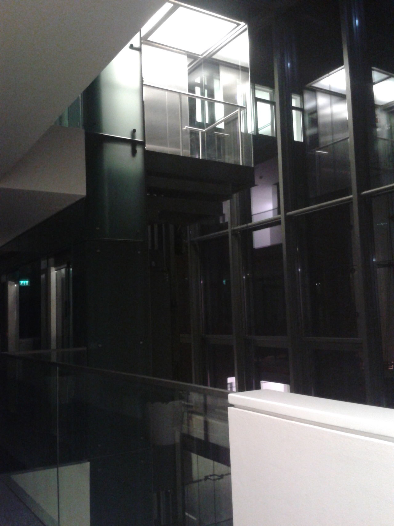 Absence Corridor Elevator Glass - Material Indoors  Modern Office Building Interior Window