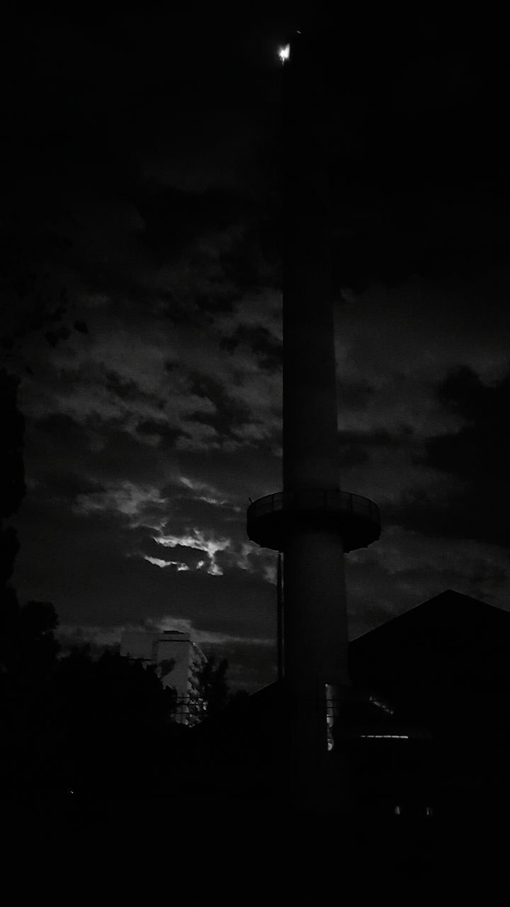 sky, cloud - sky, silhouette, no people, dusk, night, low angle view, outdoors, sunset, illuminated, moon, nature, wind power, wind turbine, industrial windmill, windmill, astronomy